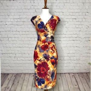Ralph Lauren | NWOT Floral Print Faux Wrap Dress